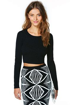 Nasty Gal Athame Crop Sweater | Shop Tops at Nasty Gal