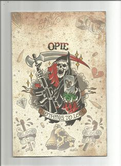 Sons of Anarchy Redwood Original #2 1:20 Opie Tattoo Variant (2016) Brian Level