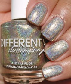 Different Dimension Homespun Holidays Collection Swatches & Review | KellieGonzo | Bloglovin' / Family is a light gold linear holographic with added shimmers