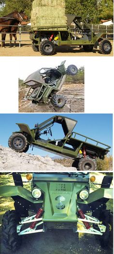 """Daryl Hannah's Ranch """"Bio-Beast"""" !!!   This tough buddy will + can do almost anything you need on the ranch   a sandrail (think baja 1000), mule hybrid. The tomcar is workhorse extraodinaire + it runs on b100 biodiesel (sustainably sourced – the only kind we like )!!!    25 mpg – up to 250 miles fuel range   (with optional 2nd tank)."""