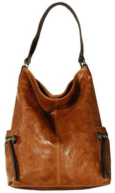 Tano Leather Bag Check Hobo W/zip Pockets Coconut