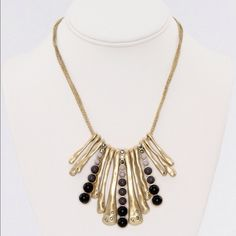 Necklace Made of metal alloy, acrylic and crystal. New, never used. Poshmark transaction only. Smoke free, cat friendly home. Photos courtesy of Adia Kibur. Adia Kibur Jewelry Necklaces