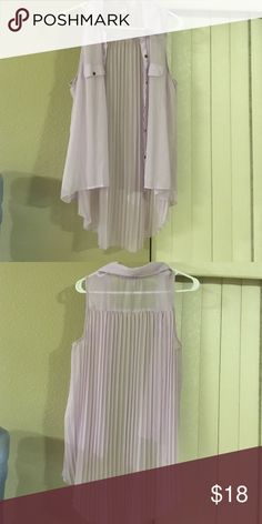 Gently used light pink Top Very nice Sleeveless button down light pink sheer top Tops Blouses