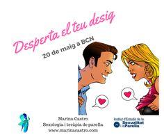 Com tenir i mantenir el desig sexual en parella. Taller a Barcelona http://www.marinacastro.com/activitats-parella-sexologia/taller-desperta-el-teu-desig-sexual-20516/