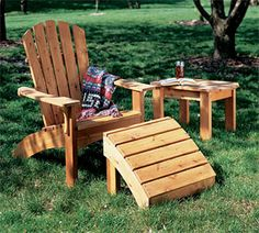 Woodworking Plans for Adirondack Chair, Table $5.95 but can probably figure it out if I stare at it long enough