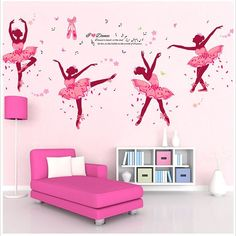 Removable Ballerina Dacing Girl Wall Sticker Vinyl Decal Room Home Mural Decor