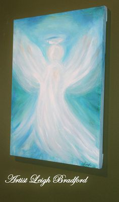 Paintings on canvas of Angels Angel wings Abstract painting