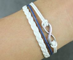 Kama  leather bracelet Navy blue leather rope by itouchsoul, $3.99