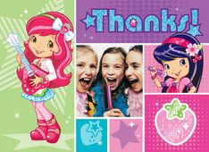 Berry Rockin' Strawberry Shortcake Thank you Notes with Cherry Jam