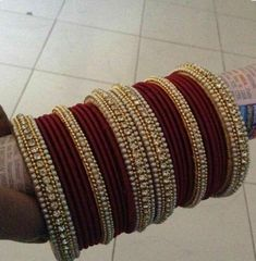 Silk Thread Bangles Design, Silk Bangles, Bridal Bangles, Thread Jewellery, Wedding Jewellery Designs, Antique Jewellery Designs, Indian Jewelry Sets, Gold Jewelry Simple, Bangle Set