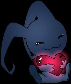 Dis cute lil heartless with a heart. Just, dawwwww