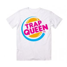 Trap Queen T-Shirt ($22) ❤ liked on Polyvore featuring tops, t-shirts, white cotton t shirts, white t shirt, white cotton tops, white tops and white tee