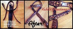 Step by step guide to painting horse tack shared by Kahli's Creations!