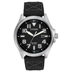 Today Buy - Citizen Eco-Drive Military Nylon Mens Watch AW1410-08E