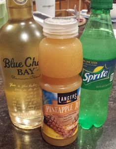 HIGH TIDE Blue Chair Bay Banana Rum (1/2 cup) PineApple Juice (1/2 cup) Sprite or 7up (1/2 cup)
