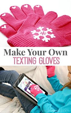 Make your own texting gloves. This is an easy, inexpensive gift idea that kids can help with. Perfect for friends and last mi… – diy decoration Homemade Christmas Gifts, Homemade Gifts, Christmas Diy, Craft Gifts, Diy Gifts, Diy Presents, Craft Projects, Sewing Projects, Project Ideas