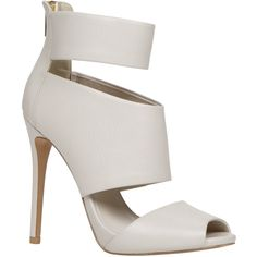 ALDO Cibottola Sandals featuring polyvore, fashion, shoes, sandals, bone, high heels stilettos, sexy sandals, high heel sandals, sexy high heel sandals and ankle wrap sandals
