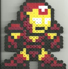 Ironman hama beads by Ravenfox-Beadsprites on deviantart