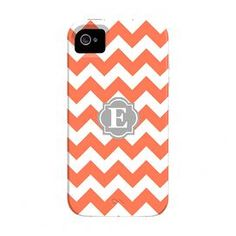 Give your favorite graduate the perfect gift with this stylish monogrammed iPhone case.   Product: iPhone 4 caseConstruction Material: Plastic and silicon Color: Coral and greyFeatures:  Single letter monogramShock-absorbing flexible bumper protects your screen from directly contacting surfacesImpact-resistant plastic shell protects the back and corners while maintaining access to all ports and functions