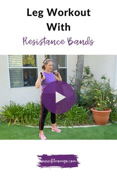 Powerful Leg workout with Resistance Bands #resistancebandworkout #resistancebandsworkout #legworkout #lowerbodyworkout #quickworkouts Cardio Workouts, Workout Tips, Workout Videos, At Home Workouts, Strength Workout, Strength Training, Strong Women, Fit Women, Fitness Tips
