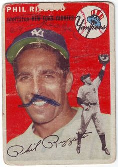 Poor Old Baseball Cards: 1954 Topps Phil Ruzzuto