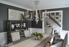 A Few Tiny Changes in the Dining Room by Dear Lillie