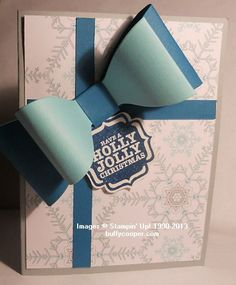 Gift Bow Bigz L Die and Winter Frost specialty designer series paper.