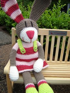 Milla, crochet Bunny ♥  wish I knew someone that could make her