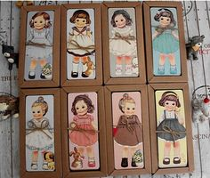 30PCS/lot New girl doll mate series Bookmark set / paper bookmarks/ book holder / message card with Kraft package-in Bookmark from Office & School Supplies on Aliexpress.com | Alibaba Group