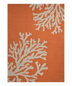 Take a look at this Orange & White Coral Reef Rug by Jaipur Rugs on #zulily today!