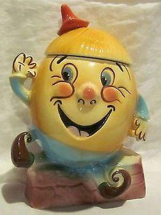 Vintage Jars, Vintage Ceramic, Vintage Stuff, Vintage Kitchen, Jar Jar, Vintage Toys 1960s, Antique Cookie Jars, Teapot Cookies, Humpty Dumpty