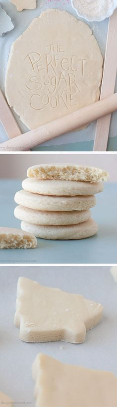 Learn the two important factors to make cut out sugar cookies work every time. Perfect to decorate for the holidays or any special occasion. (christmas recipes for kids powdered sugar) Basic Cookies, Cut Out Cookies, Fancy Cookies, Köstliche Desserts, Delicious Desserts, Dessert Recipes, Galletas Cookies, Cupcake Cookies, Cupcakes