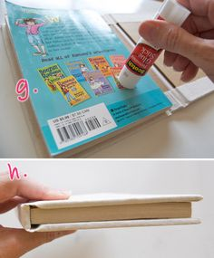 Making old paperbacks into custom hardbacks - great idea.  I have several books that could use this!