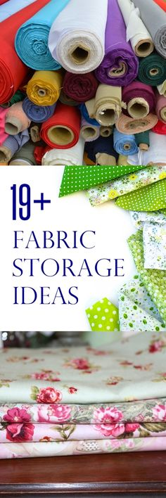 fabric storage ideas | sewing room storage | sewing organization ideas | craft storage