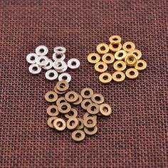 Cuivre Perles Cube Findings 50Pcs New Fashion lumière Golden À faire soi-même Pour Bijoux Making