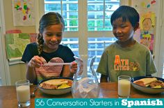 56 Questions in Spanish to Spark Family Dinner Conversations {Printable Sheet}