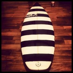 Cool surfboard design . He painted by himself.