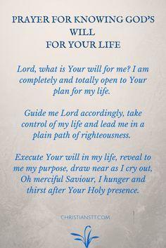 Prayer for God's will.....Amen♥