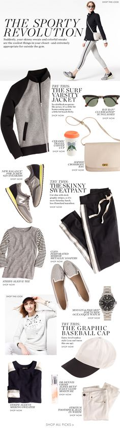 I've been trying to make sweatpants trendy for years! -- The Sporty Revolution  #yoga #style #findyouryoga www.yogatraveltree.com