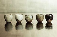 Rustic-Ceramic-Sake-Cups-Nom-Living | Flickr - Photo Sharing!