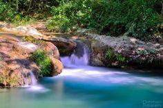 Wandern, Toskana, Wasserfall