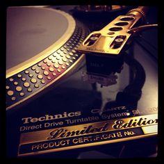 My iPod technics 1200 gold