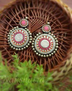 These Trendy And Stunning Terracotta Jhumkas Are For The Quirky Bride-To-Be. For more such wedding jewellery inspirations, stay tuned with shaadiwish. Septum Ring, Nose Ring Jewelry, Indian Jewelry Earrings, Clay Earrings, Diamond Jewellery, Handmade Jewellery, Jewelry Art, Wedding Jewellery Inspiration, Indian Wedding Jewelry