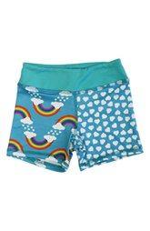 CHOOZE 'Splits' Mixed Print Shorts (Little Girls & Big Girls)