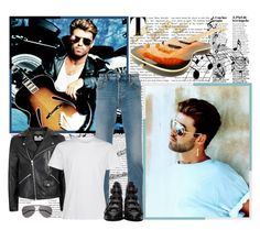 """""""George Michael! - Contest!"""" by asia-12 ❤ liked on Polyvore featuring Oris, STONE ISLAND, Topman, Yves Saint Laurent, Givenchy, men's fashion and menswear"""