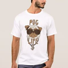 Pug Life T-Shirt - click to get yours right now!  #funny #illustration #pugs #puglife #dogs #dogLovers #rapper #lol #cute #ornament #christmas #xmas #gift #gifts #giftforhim