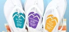 Flip-flop wedding favors Free Wedding, Perfect Wedding, Wedding Day, Wedding Party Favors, Wedding Events, Cake Trends, Ceremony Decorations, Wedding Details, The Incredibles