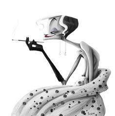 Cruella de Vil by Rafikisland.