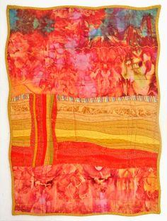 Desert, Treasures series No. 4 by Sandra Sullivan (Australia).  Ice-dyed background fabrics.