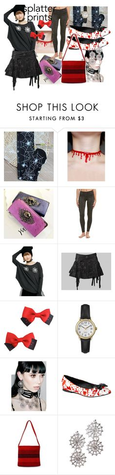 """The Spider did IT!!"" by lerp ❤ liked on Polyvore featuring 90 Degree by Reflex, Wildfox, REGALROSE, Funtasma and NOVICA"